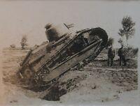 1914-18 WWI photo d'un char RENAULT FT tirage original d'époque VINTAGE TANK N°2