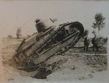 1914-18 WWI photo d'un char RENAULT FT tirage original d'époque VINTAGE TANK N°2