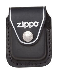 Zippo LPCBK, Black Leather Lighter Pouch with Clip