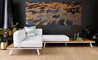 240cm art oil painting golden reef landscape modern urban original   aboriginal