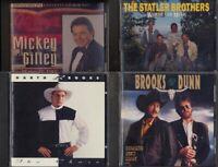 4 Music CDs, Garth Brooks, Brooks & Dunn, Mickey Gilley, Statler Bros., CD-0031