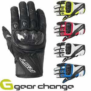 RST Stunt 3 III Leather Riding Motorcycle Gloves - CE Approved
