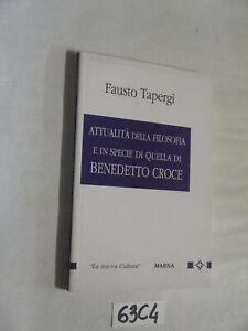 Tapergi ATTUALITA' DELLA FILOSOFIA (63C4)