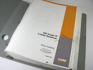 CASE 580 Super M Loader Backhoe Tractor Parts Manual Book Catalog OEM