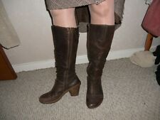 """KNEE HIGH LEATHER BOOTS 3.5"""" HEEL SIZE 8 / 42 FROM EL NATURALISTA"""