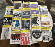 NYC Theater 🎭 PLAYBILLS -  Springsteen, West Side Story, Jersey Boys +15 more!