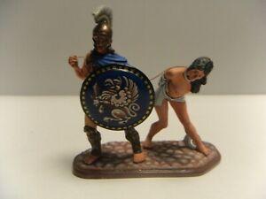 St Petersburg Greek Warrior with female prisoner 54mm metal