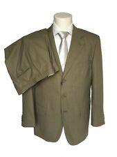 Abito classico uomo Confitalia, beige tinta unita in fresco lana DROP 6, -60%.