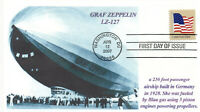 GRAF ZEPPELIN German Airship 1930s Photo Cacheted Cover First Day PM