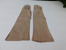 DESIGNER LADIES TAUPE SUEDE DRESS GLOVES UNLINED SIZE  6.5