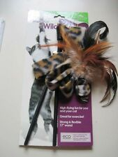 Smarty Kat Wild Streak Wand Feather Attachment Leopard Interaction Need Cat Toy