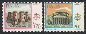 Italy 1321-1322,MNH.Michel 1607-1608. EUROPE CEPT-1978.Architecture.Castel Nuovo