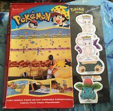 2 X Pokemon Stickers SEALED Original & 1 X Wallpaper Stickers Roll (used) RARE