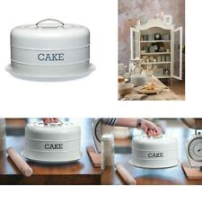 Living Nostalgia French Grey Domed Cake Tin Articles Pour Le Four Cuisine, Arts De La Table
