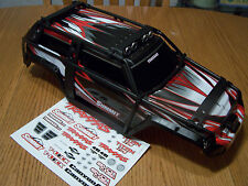 Traxxas 1/10 Summit 5607 Grey Black White Red Factory Painted Body ExoCage Decal