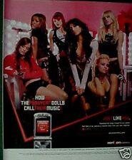 Pussycat Dolls Rock Music Verizon Wireless Phone AD