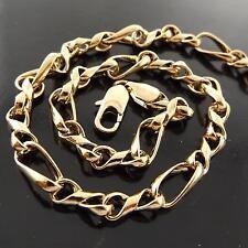 NECKLACE PENDANT CHAIN GENUINE REAL 18K ROSE G/F GOLD SOLID TWIST ANTIQUE DESIGN