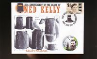 NED KELLY 125th ANNIVERSARY SOUV COVER, KELLYS ARMOUR