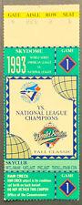 1993 World Series Baseball Ticket Game 1 Philadelphia Phillies Toronto Blue Jays