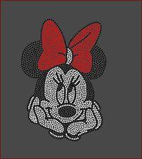 Disney's Minnie Mouse Filled Inspired Fan Art Rhinestone Iron On Transfer Bling