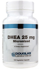 Douglas Labs DHEA 25mg Micronized Boosts Cortisol Mood Energy Adrenals 100 VCaps