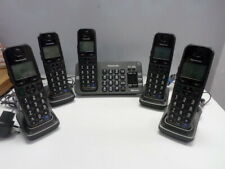Panasonic Kx-Tge270 Cordless 5 Handset Phone System Digital Answering