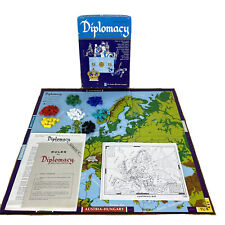 Diplomacy Avalon Hill 819 Bookcase Board Game Complete 1976 2nd Edition Plastic