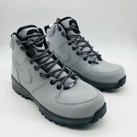 Nike Manoa Leather Wolf Gray Black Boot 454350-004, Men's 8 M