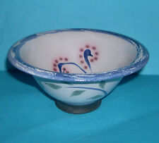 Smailholm Studio Pottery - Attractive Footed 'Bird Design' Bowl (Potters Mark).