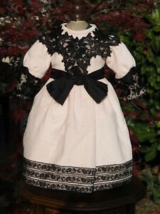 Beautiful Dress and Hat for Antique French or German doll