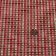 """WAVERLY CONFETTI PINK STRIPE PLAID WOVEN LIGHT TEXTURE MULTIUSE FABRIC BTY 55""""W"""