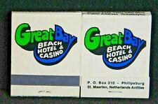 Great Bay Beach Hotel Casino St. Maarten Netherlands Antilles Matchbook