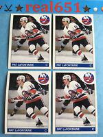 1985 Topps #137 PAT LaFONTAINE Lot x 4 New York Islanders | Buffalo Sabres HOF