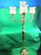 Handmade Traditional 5arm Candelabra Crystal Shade Wedding Gold 47x47x95cm Large