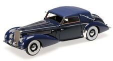 Delage D8-120 cabrio cerrado 1939 azul oscuro coche a escala 1 18 / Minichamps