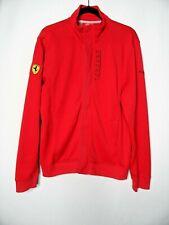 SCUDERIA FERRARI Official Puma Track Jacket Size UK L Red EU 52/54 Red Coat Top