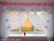 10 COLOURS VERY PRETTY VOILE  NET CURTAINS WINDOW DECORATION FLOWERS FOR YOU !!!