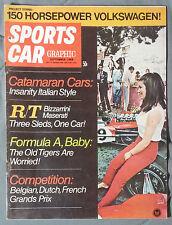 SPORTS CAR GRAPHIC MAGAZINE 1968 SEPTEMBER MASERATI BIZZARRINI CATAMARAN VW F1