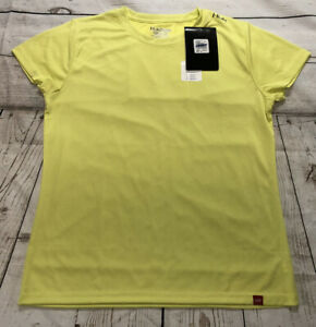 HUK Performance Fishing Gear Women's XL T-Shirt Green/Yellow New With Defects