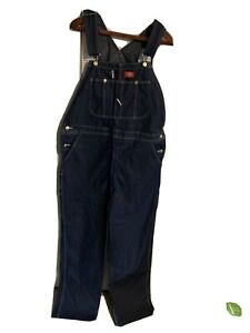 Dickies Denim Bib Overalls Mens 38 x 34 New W/O Tags