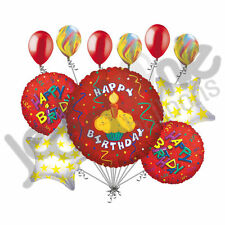 11 pc Happy Birthday Cupcake Balloon Bouquet Decoration Party Cake Red