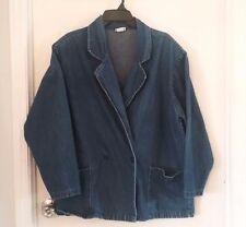 Womens Vivaldi Blue Denim Jacket size Extra Large, button front  -234