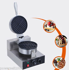 New listing 1200W Lattice Thicken Commercial Non Stick Plates Waffle Maker Stainless Steel B