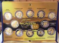 Die edelsten Münzen der Welt, 999er Silber mit Brillanten und 24 Karat Gold