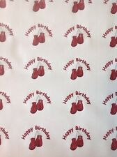 BOXING GLOVES BIRTHDAY GIFT WRAPPING PAPER BOXER GLOVE CONTACT SPORT DADS DAD