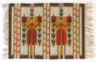 LILY Modernist Vintage Wall Hanging / Rug Polish 1970s Hand Loomed NEW OLD STOCK