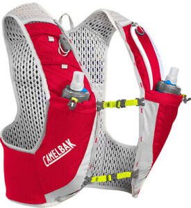 CamelBak Ultra Pro Vest Dual 17oz Quick Stow Flask 1L Red Lime Green Gray LARGE