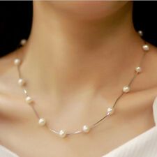Fashion Charm Jewelry Pendant Chain Faux Pearl Choker Short Necklace