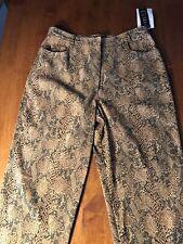 Dolina 90s Vintage Snakeskin Print Pants