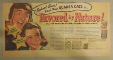 "Quaker Cereal Ad: ""School Time"" for Oats!  Size: 7.5 x 15 inches"